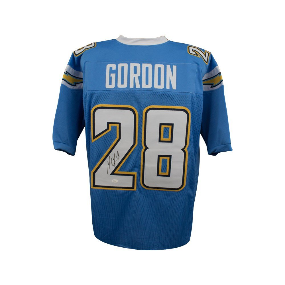 cf400f2d510 Melvin Gordon Autographed Los Angeles Chargers Custom Powder Blue Football  Jersey - BAS COA at Amazon's Sports Collectibles Store