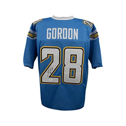 outlet store 3198e 081b8 Melvin Gordon Autographed Los Angeles Chargers Custom Powder ...