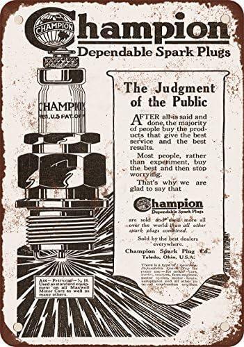 1919 Champion bujías reproducción de aspecto Vintage Metal placa metálica, 12 x 18 inches: Amazon.es: Hogar
