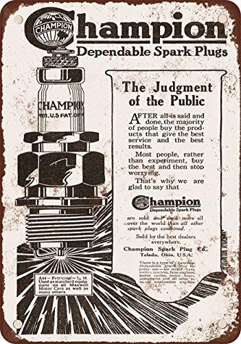 1919 Champion bujías reproducción de aspecto Vintage Metal placa metálica, 12 x 18 inches