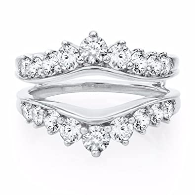 Amazon tusakha 1 1 2 Ct Tw Cubic Zirconia Ring Enhancer 925