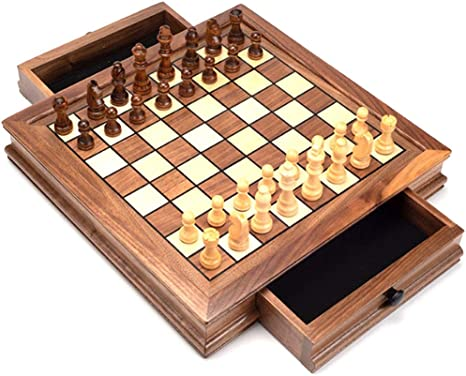 JHSHENGSHI Tablero de ajedrez Juego de ajedrez magnético