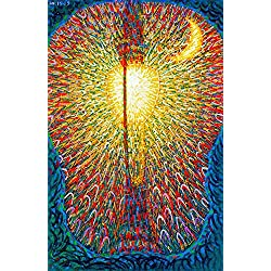 "Street Light - By Giacomo Balla - Canvas Prints 16"" by 25"" Unframed"