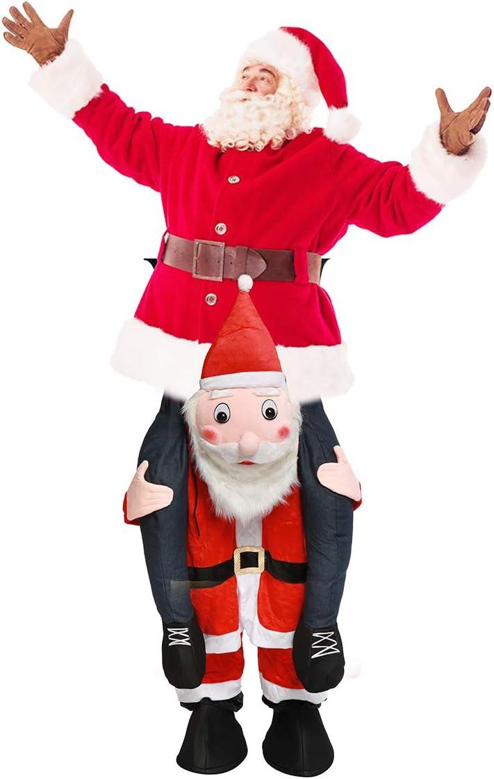 Disfraz de Papá Noel, fácil de Llevar y Caminar, Disfraz de ...