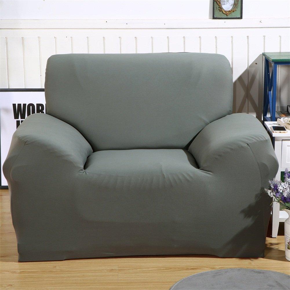 Funda elástica de tela para sofás, de ParaCity, Gris, 1 seater:90-140cm