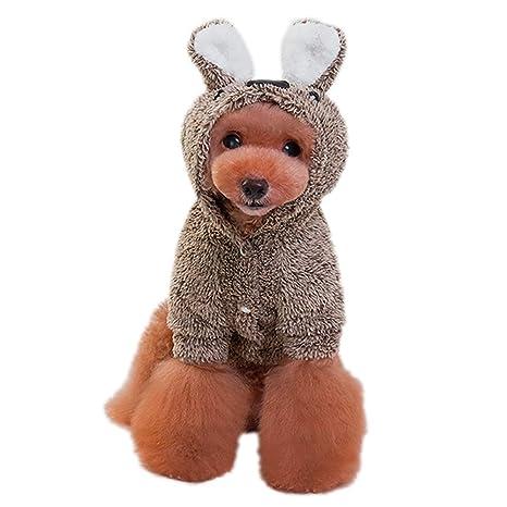 BulzEU- Lovely Pet Dog Hoodie Furry Coat Chaqueta Sudadera ...