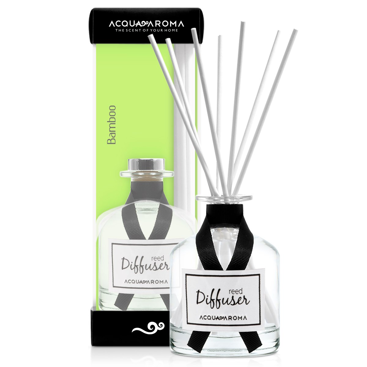 Acqua Aroma Everyday Collection Bamboo Reed Diffuser 8.1 FL OZ (240ml)