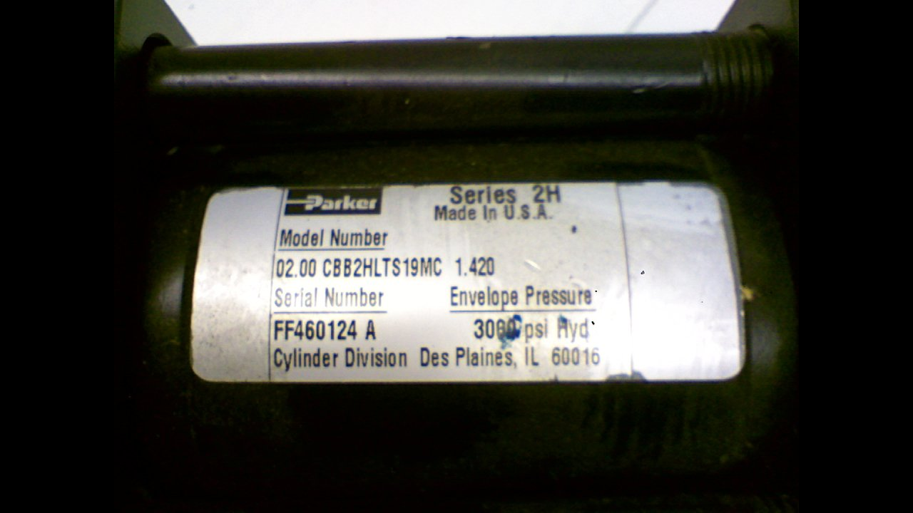 Parker 02.00 Cbb2hlts19mc 1.420 Series 2H Hydraulic Cylinder 02.00 Cbb2hlts19mc 1.420 Series 2H