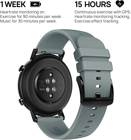 Amazon.com: HUAWEI Watch GT 2 (42 mm) Smart Watch, 1.2 Inch AMOLED ...