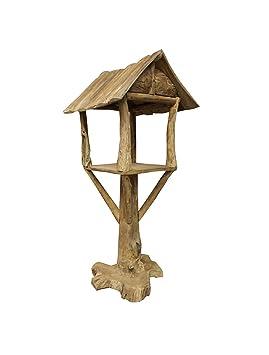 Meubletmoi - Caseta para pájaros de Teca - Decoración de jardín, terraza de Madera - Casa: Amazon.es: Hogar