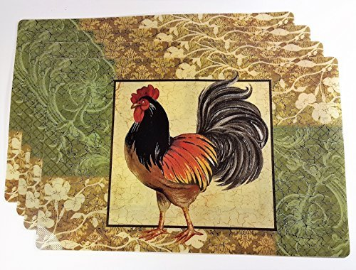 Rooster Placemats, Set of 4