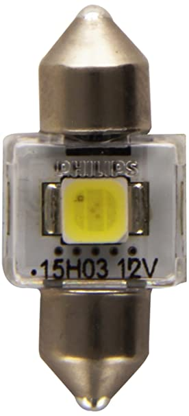 Philips 129416000KX1 X-treme Vision - Bombilla LED para coche (30 mm, 6000 K, 12 V, 1 unidad): Amazon.es: Coche y moto