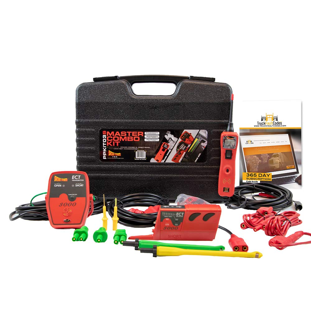 Diesel Laptops Power Probe 3 (III) Master Combo Kit with 12-Months of Truck Fault Codes