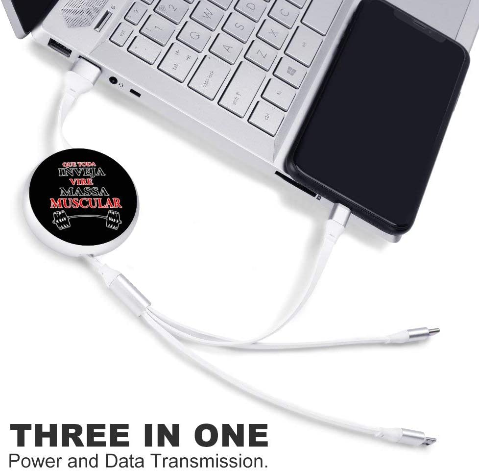 Circular Data Line Muscle Exercise Beautiful and Multifunctional Mobile Phone Data Cable 5.65.62.2cm