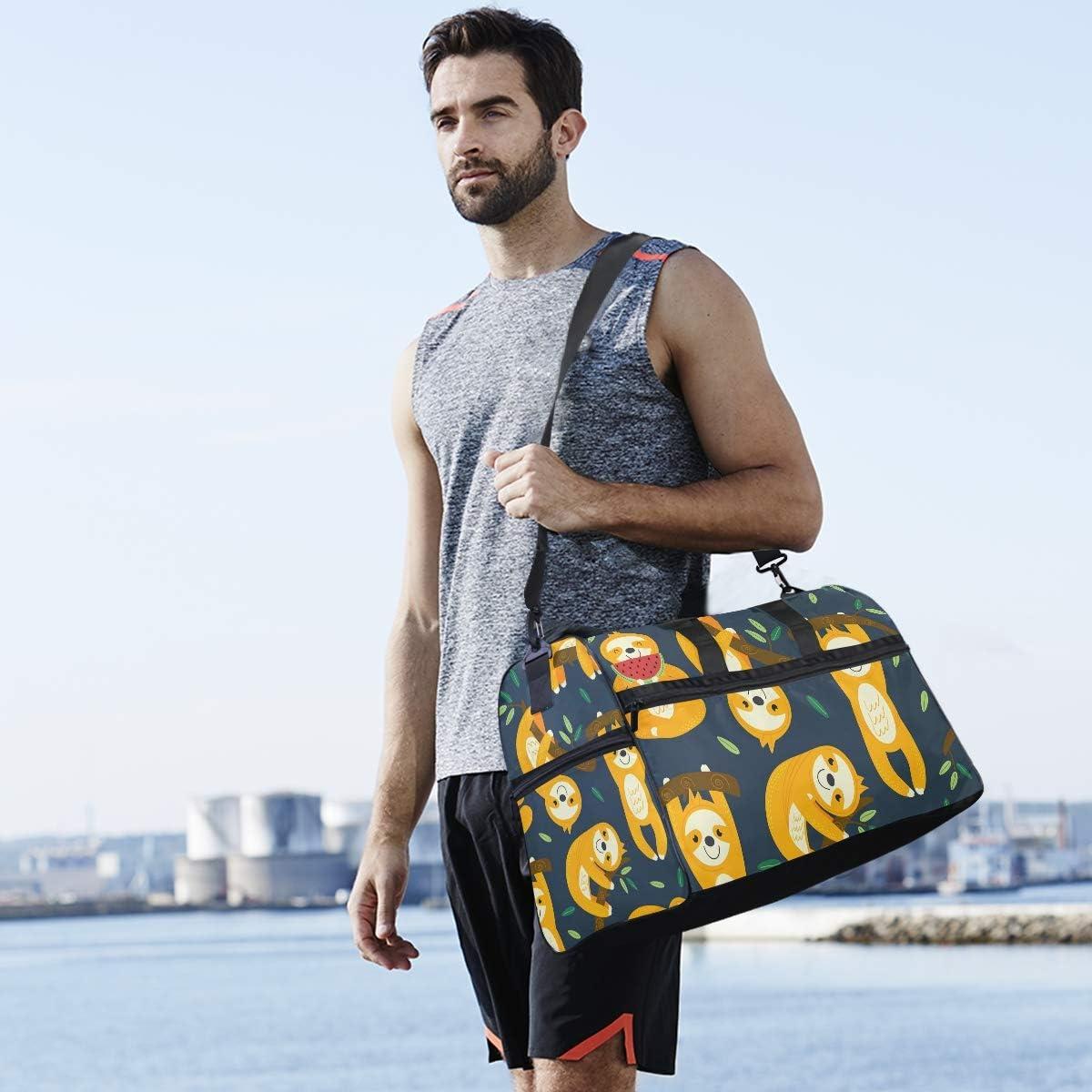 Travel Duffels Funny Sloths Duffle Bag Luggage Sports Gym for Women /& Men