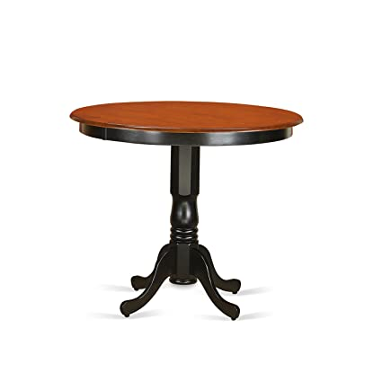 Merveilleux East West Furniture TRT BLK TP Trenton Counter Height Kitchen Table, Black/
