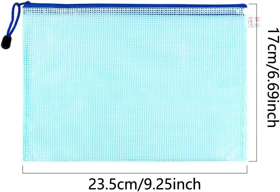 Lot de 10 pochettes en plastique avec fermeture /éclair Format A3 a3