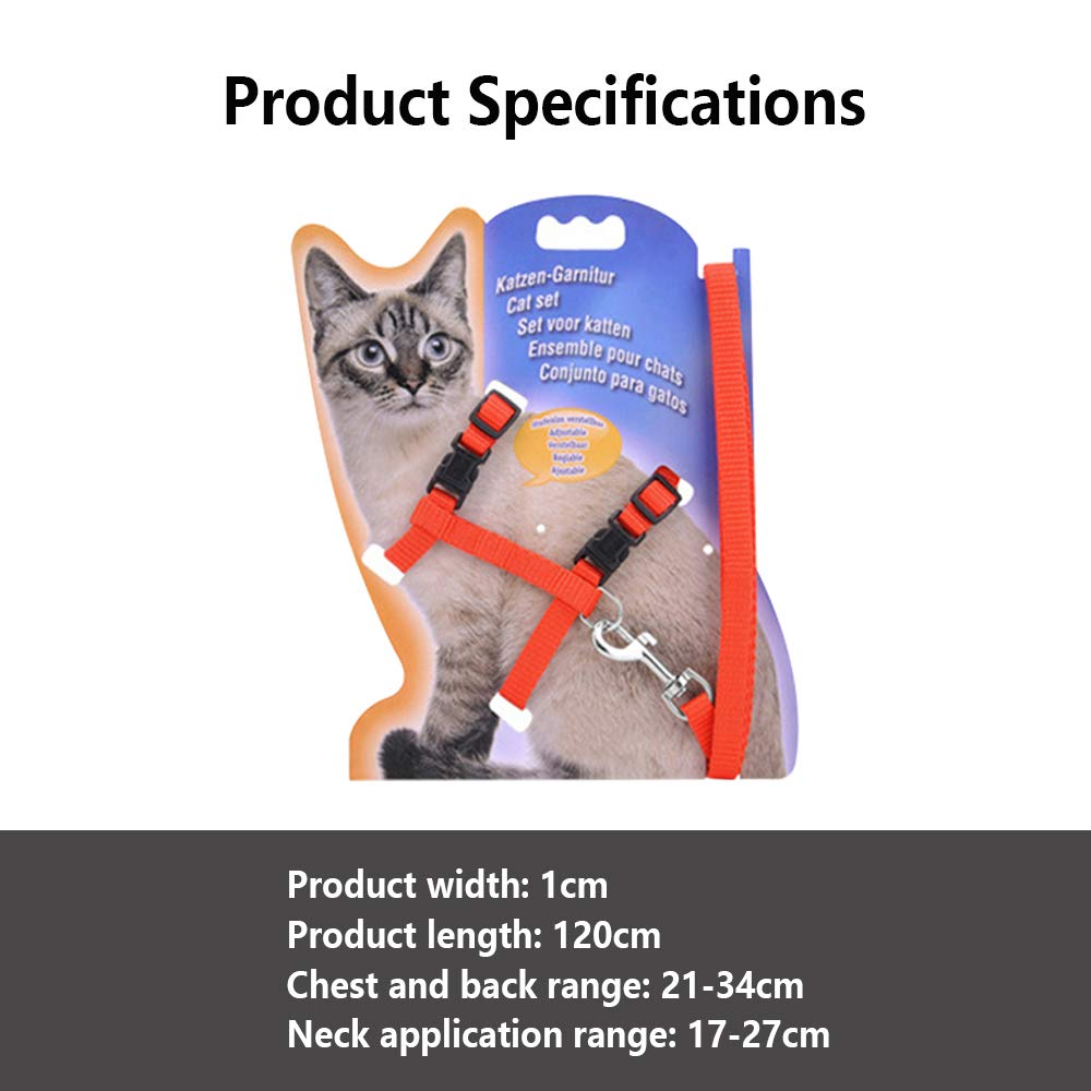 Amazon.com : Lingxin Cat Harness Leash Adjustable Nylon Strap Collar with Leash for Pet Walking (Black) : Pet Supplies