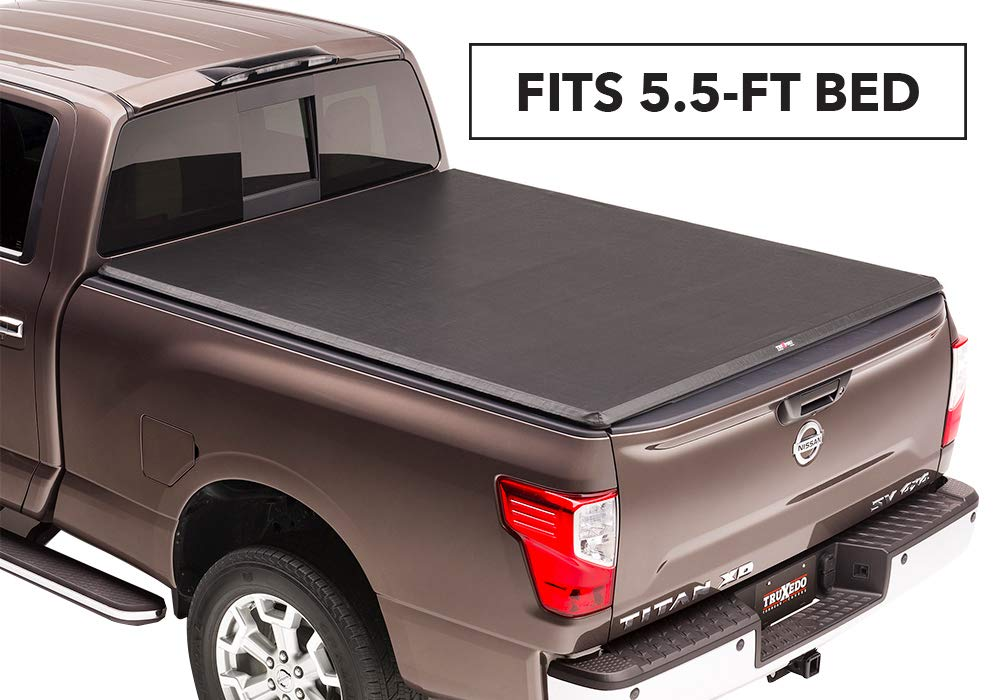 TruXedo TruXport Soft Roll-up Truck Bed Tonneau Cover | 297401 | fits 16-19 Nissan Titan w/Track System 5'6