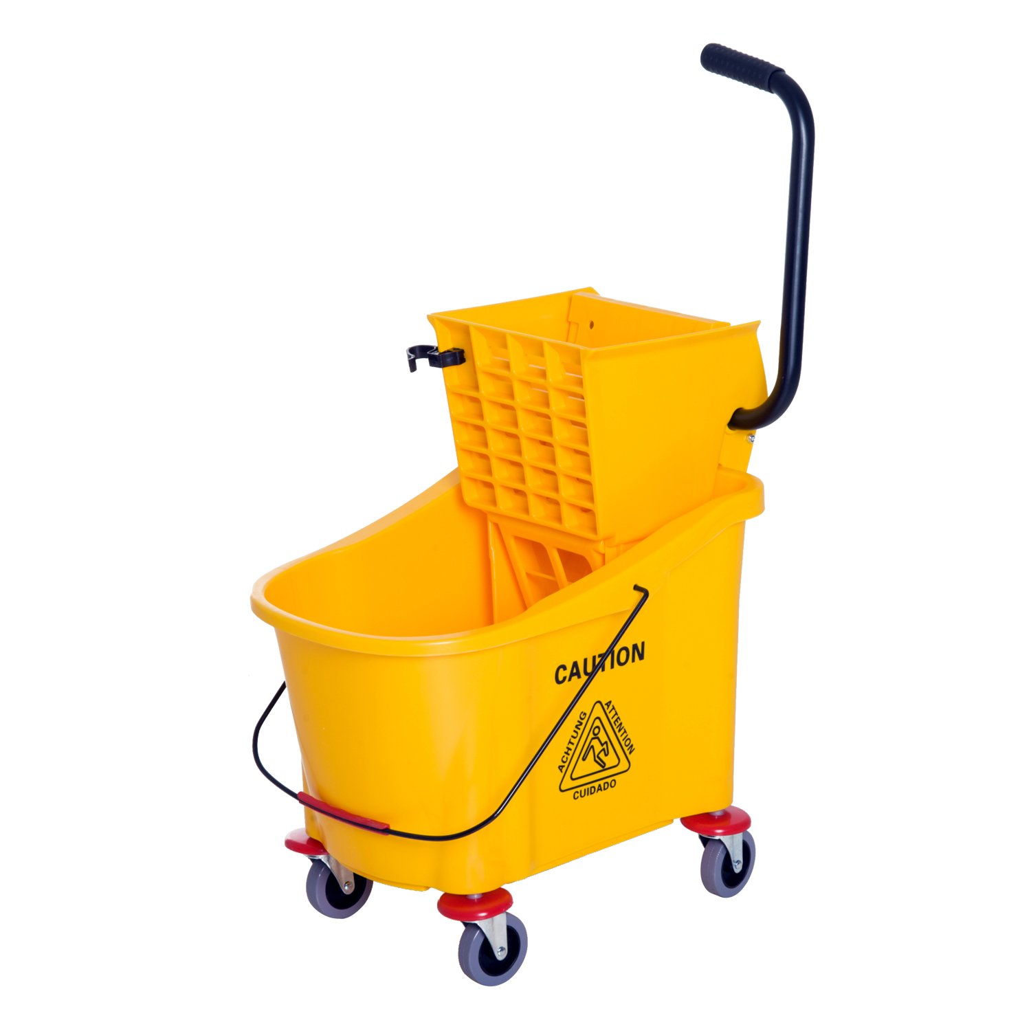 HomCom 38 Quart Commercial Janitorial Rolling Industrial Mop Bucket with Wringer