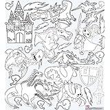 Mona Melisa Designs Color Me Peel and Stick Wall Decorative Stickers, Dragon