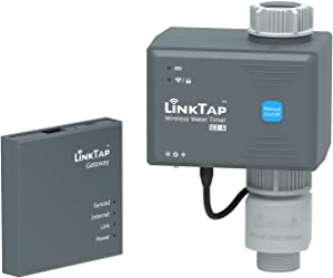 LinkTap G2S Wireless Water Timer & Gateway & Flow Meter - Smart Hose Timer for Garden, Cloud Controlled Watering, Greater Range than WiFi, Real-Time Fault Detection & Notification, 2 Year Battery Life
