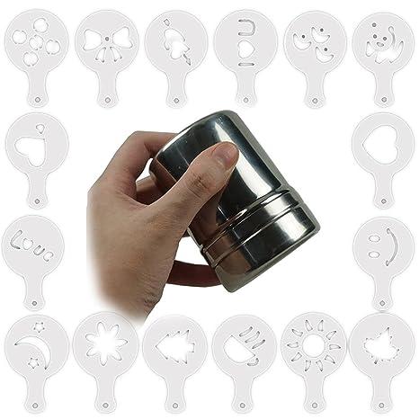 Bilipala - Dispensador de café de acero inoxidable con tapa de malla fina translúcida de plástico
