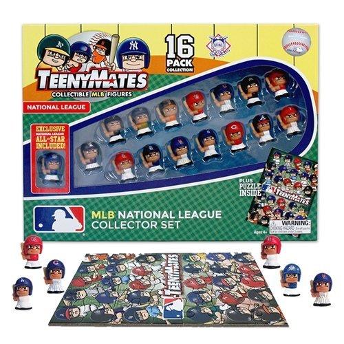 Party Animal MLB National League Teenymates (16 Pack) (Baseball Puzzle Tin)