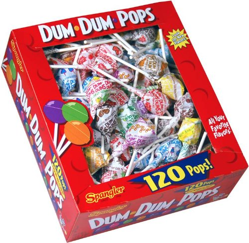 DUM DUMS Lollipops, 120 Count Box (Pack of 18)