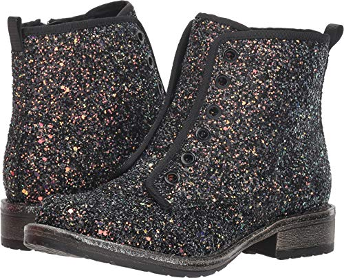 Dolce Vita Girls' Landis Combat Boot Black Glitter 2 M US Little -