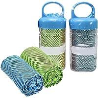 Ayaaa 2 stuks koelhanddoek sporthanddoek riem koude sporthanddoek koelhanddoek set voor mannen of vrouwen koude…