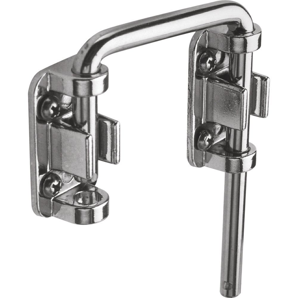Prime Line U 9847 Sliding Door Loop Lock 2 1 8 In Hardened Steel Bar W Diecast Base Chrome Plated