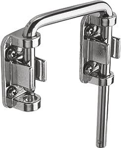 Prime-Line Products U 9847 Sliding Door Loop Lock, 2-1/8 in, Hardened Steel Bar w/Diecast Base, Chrome Plated