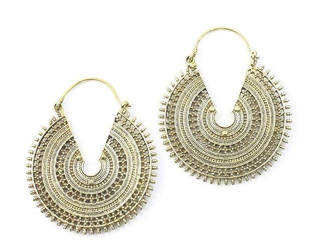 Tribal Stud Earrings Mandala Earrings Round Stud Silver Earrings Antique Style Earrings Sagia Gift Ideas Silver Studs