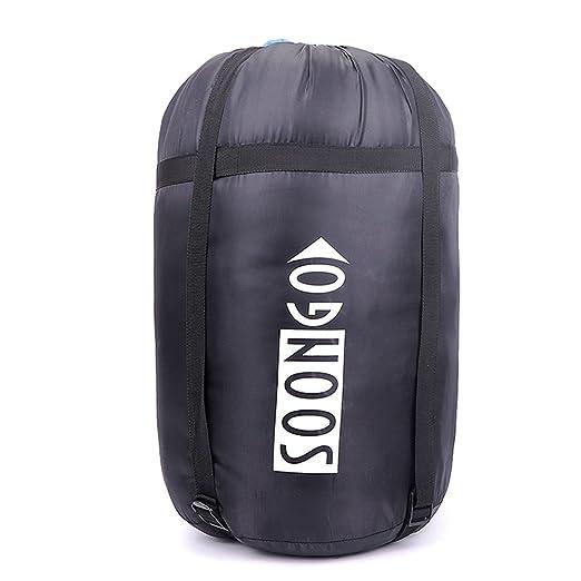 Soongo - Saco de dormir de adulto doble para senderismo y camping, color azul: Amazon.es: Deportes y aire libre