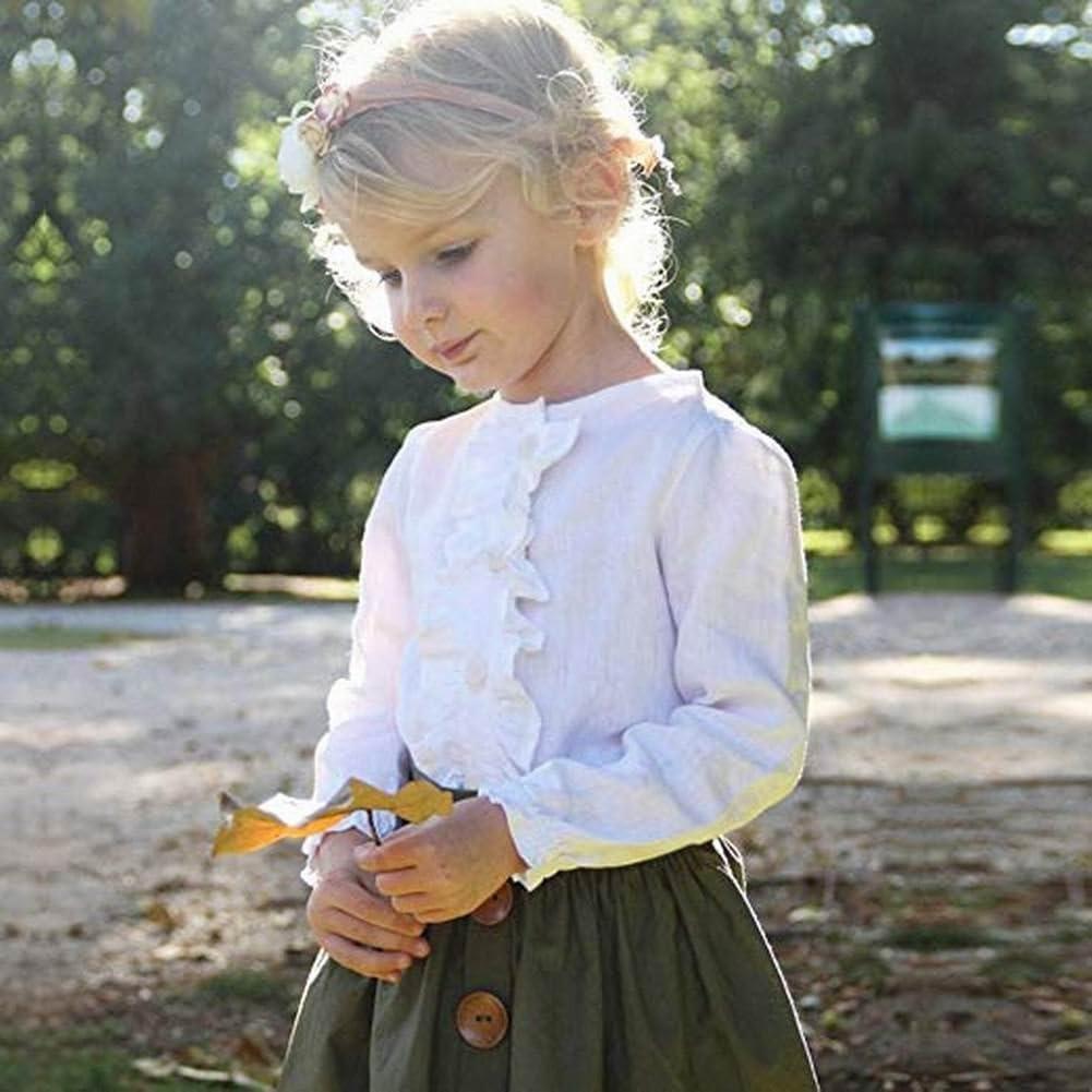 EDRIO - Falda corta de manga larga para niñas, diseño de camisa de ...