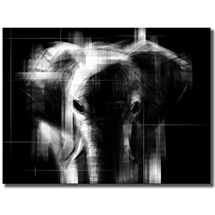 Amazon Com Klvos Abstract Canvas Wall Art Black White