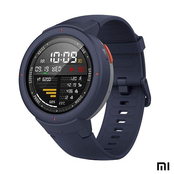 Amazfit Verge Xiaomi Smartwatch Deportivo - Reloj Deportivo GPS | Sensor de Frecuencia Cardíaca | Reproduce Música | Gris (Versión Internacional) ...