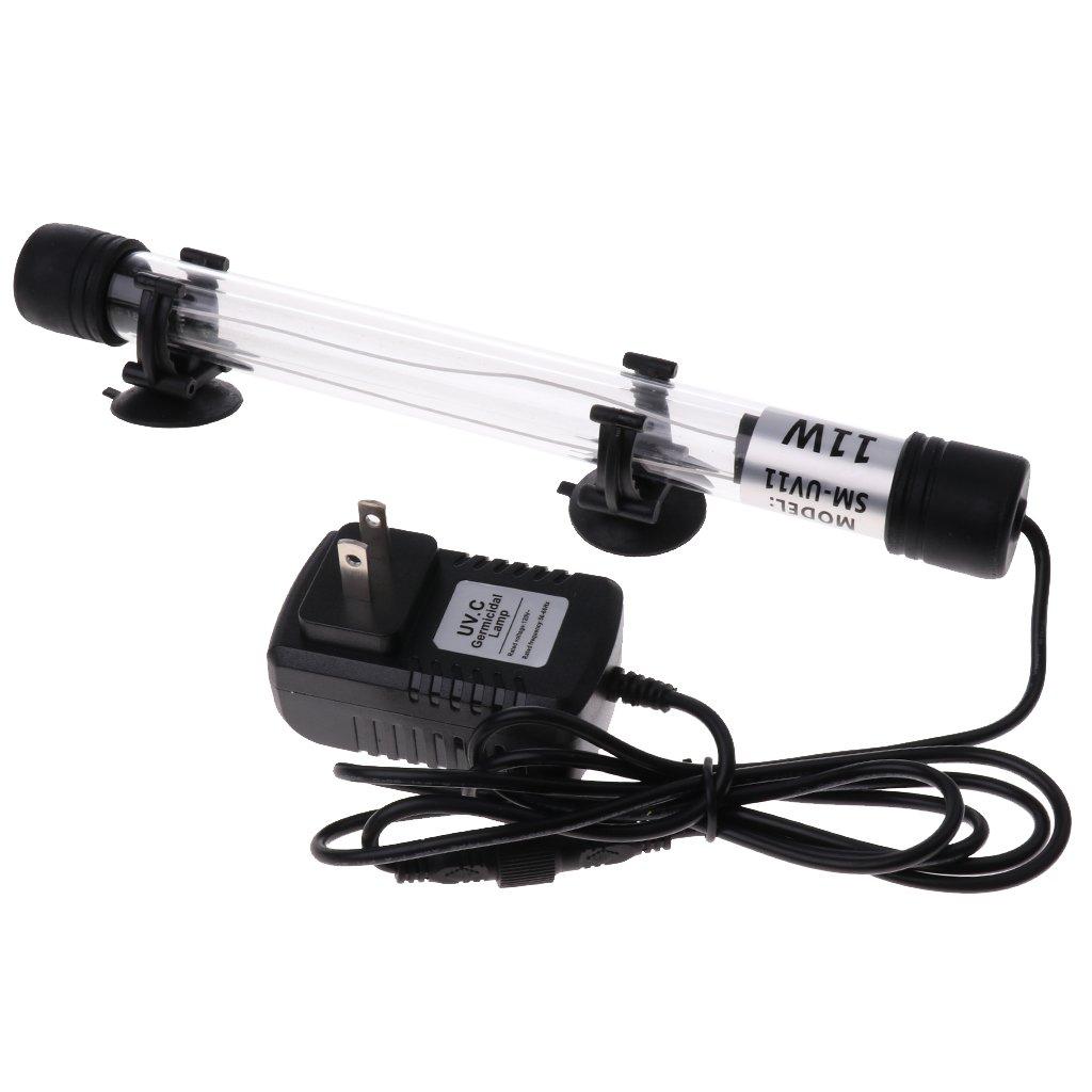 MagiDeal US Plug Aqua Sterilizer Light UV Water Clarifier Submersible Sterilizing Light - 11W