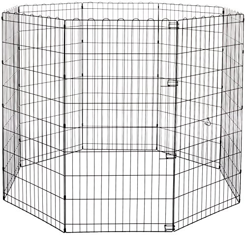AmazonBasics Foldable Metal Pet Exercise and Playpen, used for sale  Delivered anywhere in Canada