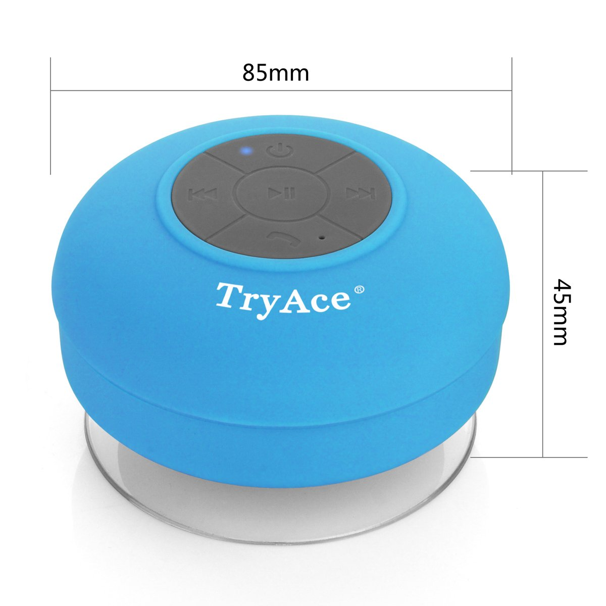 Tryace Bluetooth Waterproof Speaker With Built In Mic Bts 06 Original Dedicated Suction Cup Blue Home Audio Theater