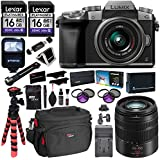 Panasonic LUMIX DMC-G7KS DSLM 4K Camera (Silver), 14-42 mm, G Vario 45-150mm, F4.0-5.6 ASPH Lens Kit, 16GB 2 Pack, Tripod, Camera Bag, Cleaning Kit, Filter Kit, Battery, Charger and Accessory Bundle