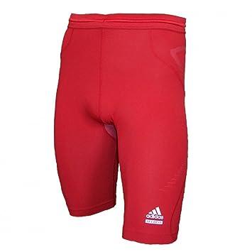adidas Techfit Prepare Short moulant Rouge  Amazon.fr  Sports et Loisirs 2f54c2e362e