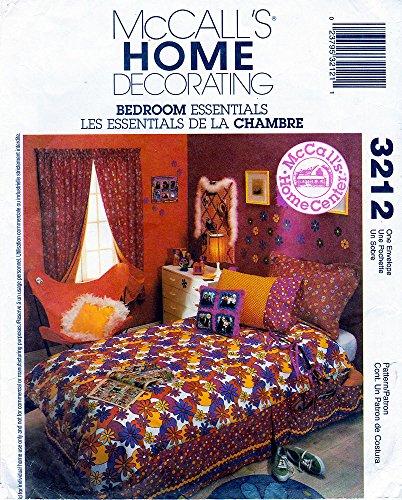 McCalls Pattern 3559 Home Decorating Bedroom Essentials Duvet Pillows Bolsters