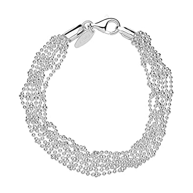 87ce12becf2c5 LINKS OF LONDON Sterling Silver Essentials 6 Row Chain Bracelet 18cm 7