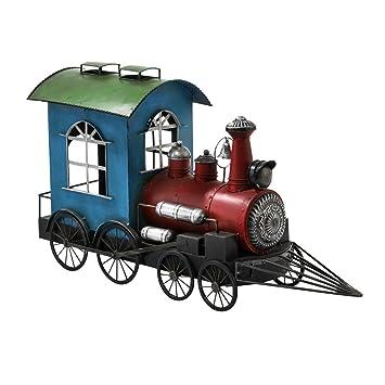 Pflanzgestell in Form einer Lokomotive, bunt, aufklappbarer ...