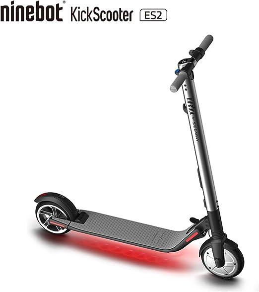 Segway Ninebot ES2 Folding Electric Kick Scooter, Silver