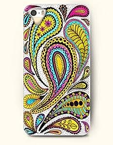 SevenArc Apple iPhone 5 5S Case Paisley Pattern ( Yellow Paisley Flowers )
