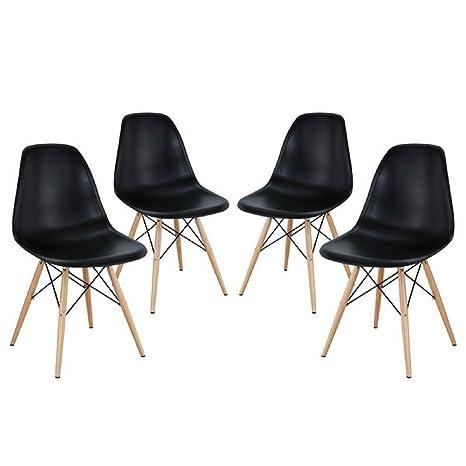 Amazon.com: Mediados de siglo estilo moderno Eames Sillas de ...