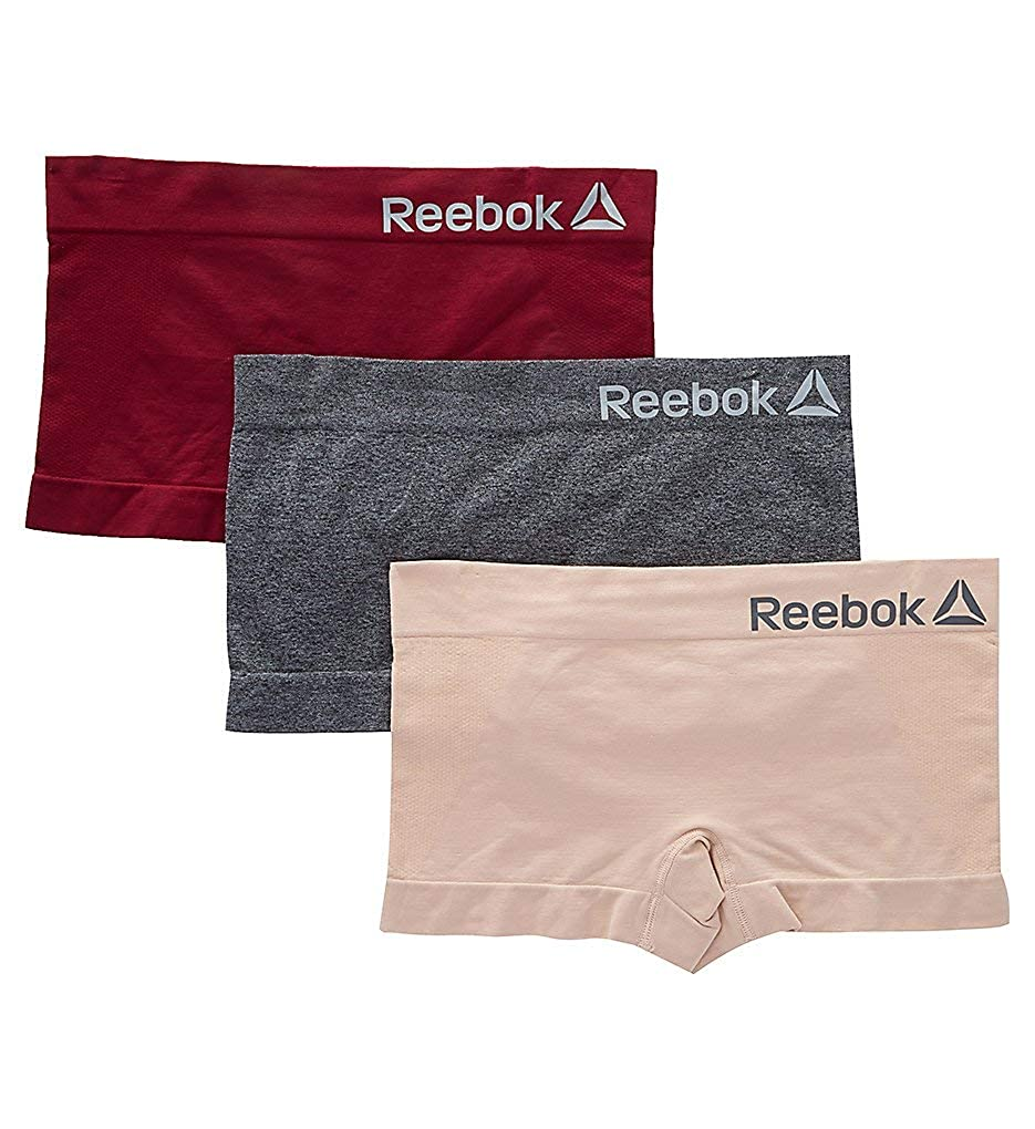 a2df65cc2700 Reebok Seamless Boyshort Panty - 3 Pack (183UH04) at Amazon Women s  Clothing store